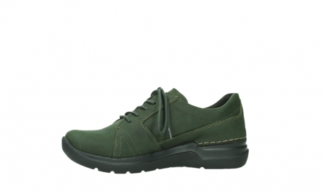 wolky lace up shoes 06609 feltwell 12735 forest green nubuck_12
