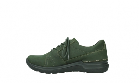 wolky lace up shoes 06609 feltwell 12735 forest green nubuck_13