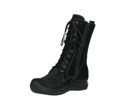 wolky lace up boots 06613 zigzag 45000 black suede_10