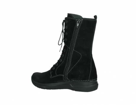 wolky lace up boots 06613 zigzag 45000 black suede_15