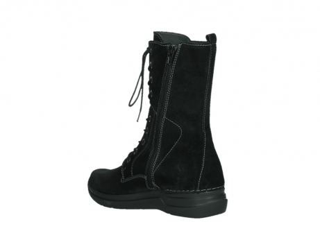 wolky lace up boots 06613 zigzag 45000 black suede_16