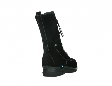 wolky lace up boots 06613 zigzag 45000 black suede_21