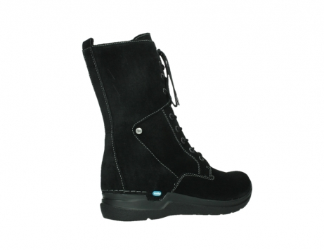 wolky lace up boots 06613 zigzag 45000 black suede_23