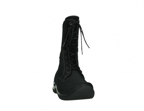wolky lace up boots 06613 zigzag 45000 black suede_6