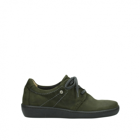 wolky lace up shoes 08125 artemis 50730 forest green oiled leather
