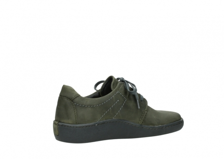 wolky lace up shoes 08125 artemis 50730 forest green oiled leather_11