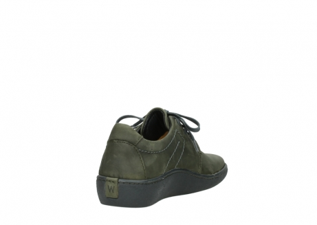 wolky lace up shoes 08125 artemis 50730 forest green oiled leather_9