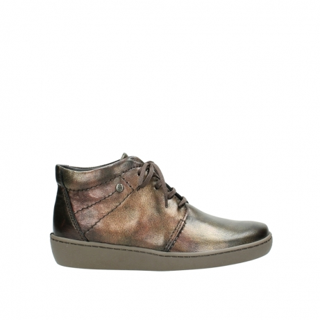 wolky lace up shoes 08126 babylon 90320 bronze metallic leather