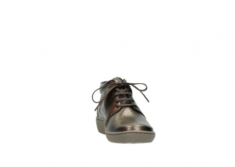 wolky lace up shoes 08126 babylon 90320 bronze metallic leather_18