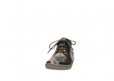 wolky lace up shoes 08126 babylon 90320 bronze metallic leather_20