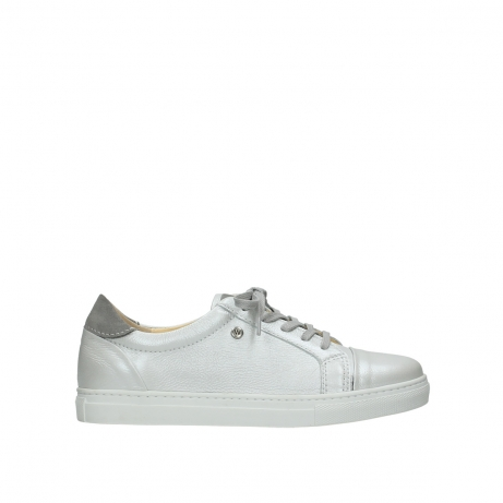 wolky lace up shoes 09440 perry 81100 white metallic leather