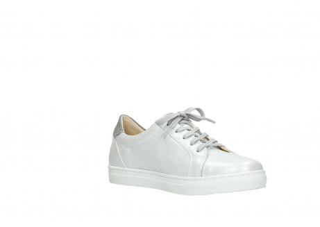 wolky lace up shoes 09440 perry 81100 white metallic leather_16