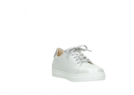 wolky lace up shoes 09440 perry 81100 white metallic leather_17