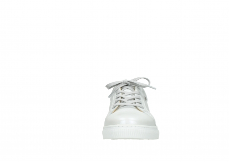 wolky lace up shoes 09440 perry 81100 white metallic leather_19