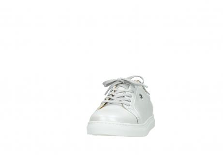 wolky lace up shoes 09440 perry 81100 white metallic leather_20