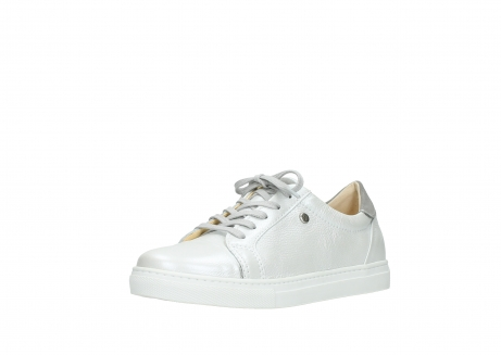 wolky lace up shoes 09440 perry 81100 white metallic leather_22
