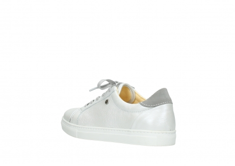 wolky lace up shoes 09440 perry 81100 white metallic leather_4
