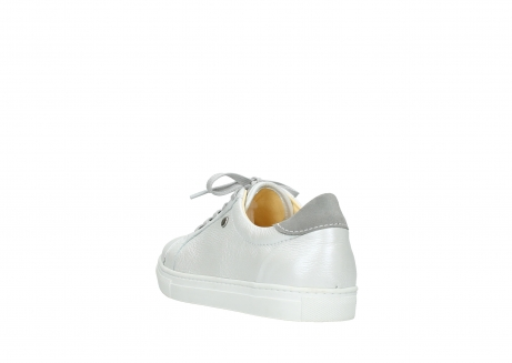 wolky lace up shoes 09440 perry 81100 white metallic leather_5