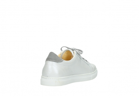 wolky lace up shoes 09440 perry 81100 white metallic leather_9