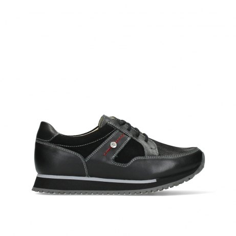 wolky walking shoes 05804 e walk 20009 black combi suede stretch leather
