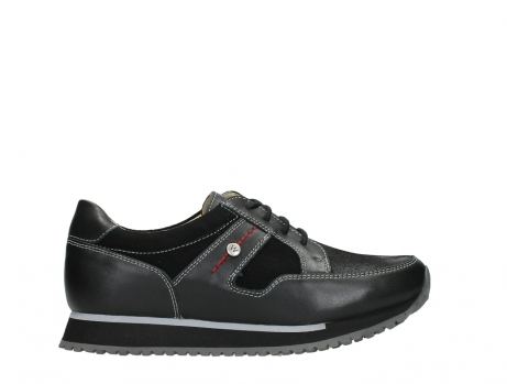 wolky walking shoes 05804 e walk 20009 black combi suede stretch leather_1
