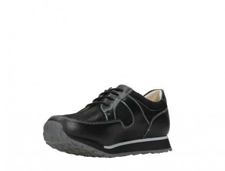 wolky walking shoes 05804 e walk 20009 black combi suede stretch leather_10