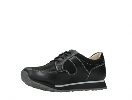wolky walking shoes 05804 e walk 20009 black combi suede stretch leather_11