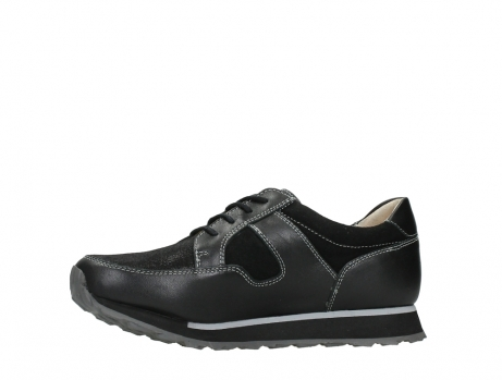 wolky walking shoes 05804 e walk 20009 black combi suede stretch leather_12