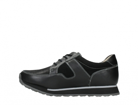 wolky walking shoes 05804 e walk 20009 black combi suede stretch leather_13