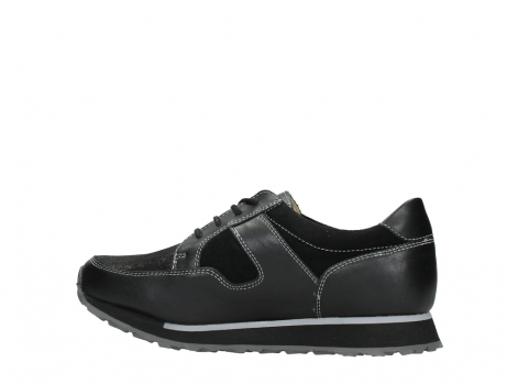wolky walking shoes 05804 e walk 20009 black combi suede stretch leather_14