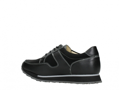 wolky walking shoes 05804 e walk 20009 black combi suede stretch leather_15
