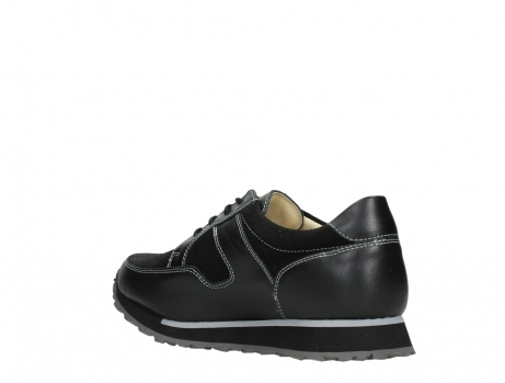 wolky walking shoes 05804 e walk 20009 black combi suede stretch leather_16