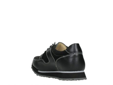 wolky walking shoes 05804 e walk 20009 black combi suede stretch leather_17