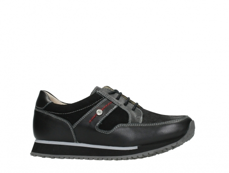 wolky walking shoes 05804 e walk 20009 black combi suede stretch leather_2