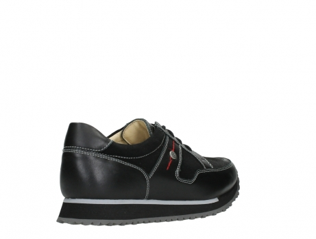 wolky walking shoes 05804 e walk 20009 black combi suede stretch leather_22