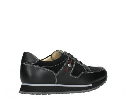 wolky walking shoes 05804 e walk 20009 black combi suede stretch leather_23