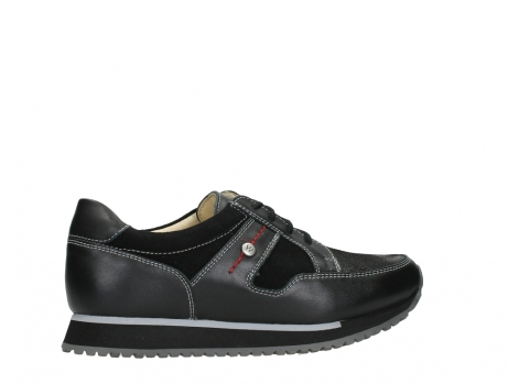 wolky walking shoes 05804 e walk 20009 black combi suede stretch leather_24