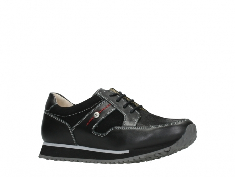 wolky walking shoes 05804 e walk 20009 black combi suede stretch leather_3