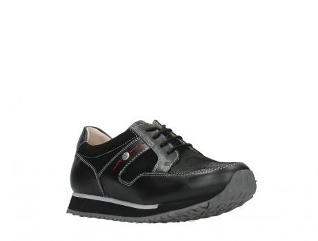 wolky walking shoes 05804 e walk 20009 black combi suede stretch leather_4