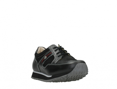 wolky walking shoes 05804 e walk 20009 black combi suede stretch leather_5