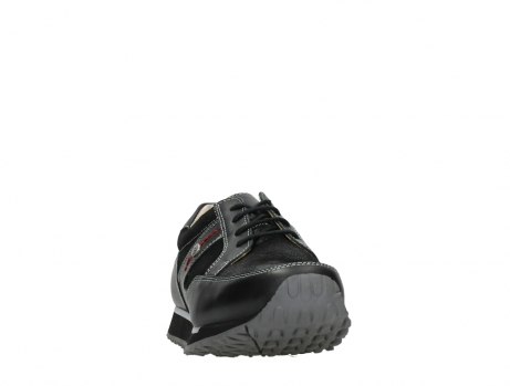 wolky walking shoes 05804 e walk 20009 black combi suede stretch leather_6