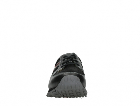 wolky walking shoes 05804 e walk 20009 black combi suede stretch leather_7