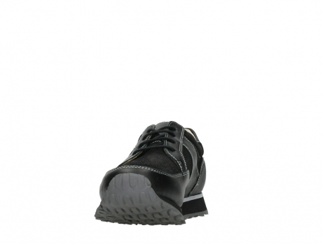 wolky walking shoes 05804 e walk 20009 black combi suede stretch leather_8