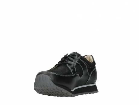wolky walking shoes 05804 e walk 20009 black combi suede stretch leather_9