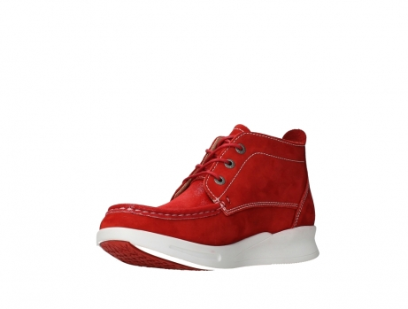 wolky lace up boots 05906 six 10570 red stretch nubuck_10