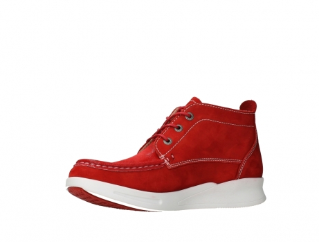 wolky lace up boots 05906 six 10570 red stretch nubuck_11