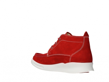 wolky lace up boots 05906 six 10570 red stretch nubuck_16