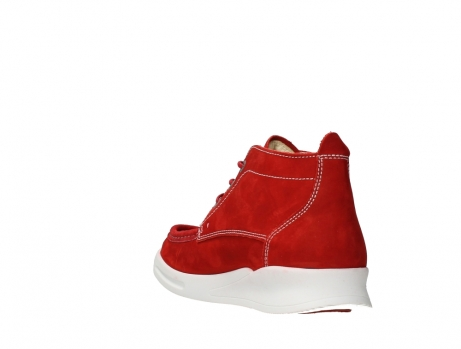 wolky lace up boots 05906 six 10570 red stretch nubuck_17