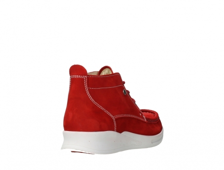 wolky lace up boots 05906 six 10570 red stretch nubuck_21