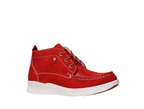 wolky lace up boots 05906 six 10570 red stretch nubuck_3